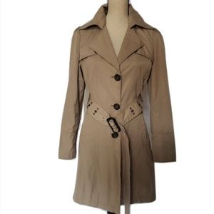Khaki Trench Coat by Marvin Richards - Size Small
